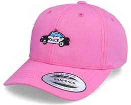 Kids Police Car Pink Adjustable - Kiddo Cap