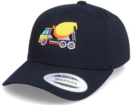 Kids Concrete Mixer Truck Black Adjustable - Kiddo Cap