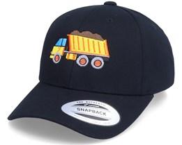 Kids Dump Truck Black Adjustable - Kiddo Cap