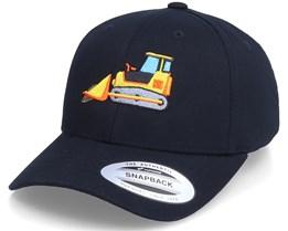Kids Bulldozer Truck Black Adjustable - Kiddo Cap