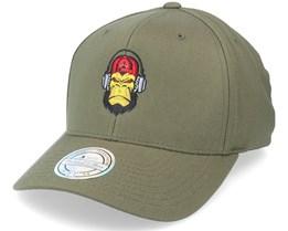 Grumpy Music Monkey Olive 110 Adjustable - Kiddo Cap