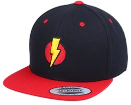 Kids Flash And Thunder 3D Black/Red Snapback - Iconic