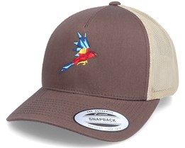 Flying Paper Parrot Coyote Brown/Khaki Trucker - Origami