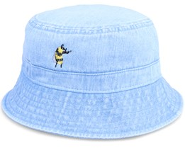 Tiny Bumble Bee Violin Light Blue Denim Bucket - Abducted