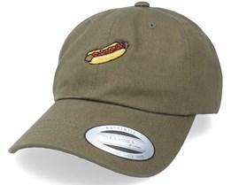 Red Rocket Hot Dog Weiner Olive Dad Cap - Abducted