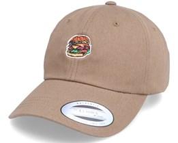 Gut Grenade Burger Tan Brown Dad Cap - Abducted