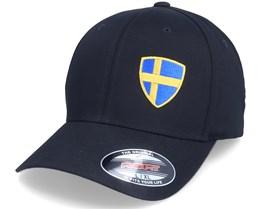 Sweden Flag Shield Black Flexfit - Forza