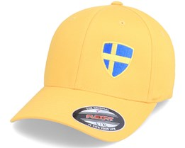 Sweden Flag Shield Yellow Flexfit - Forza
