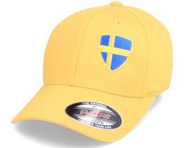 Kids Sweden Flag Shield Yellow Flexfit - Forza