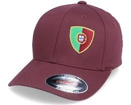 Kids Portugal Flag Shield Maroon Flexfit - Forza