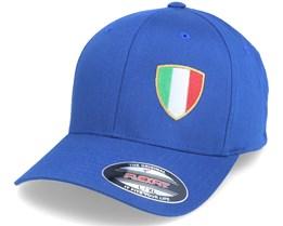 Italy Flag Shield Blue Flexfit - Forza