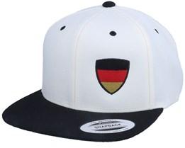 Germany Flag Shield White/Black Snapback - Forza