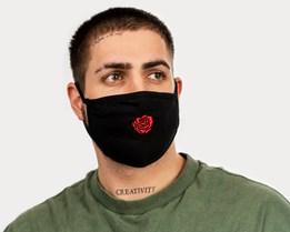 Tiny Red Rose Petal Face Mask - Zeri