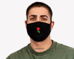 Tiny Red Rose Face Mask - Zeri